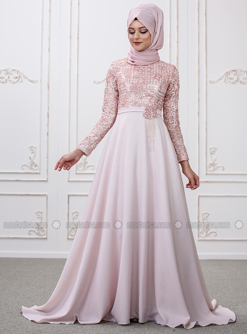 Robe hijab de soirée 2019  Un style de robe turque mode 2019 spécial  soirées