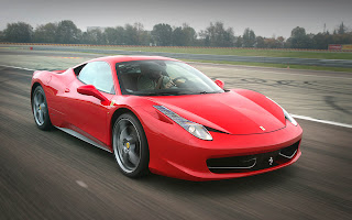 Ferrari 458 test drive at airport