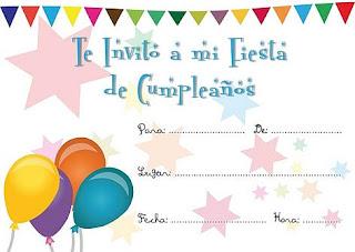 Invitaciones De Cumpleaños Infantiles Tarjetas De Cumpleaños