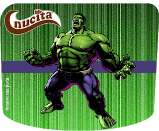 Etiqueta Nucita de Fiesta del Increíble Hulk para imprimir gratis.