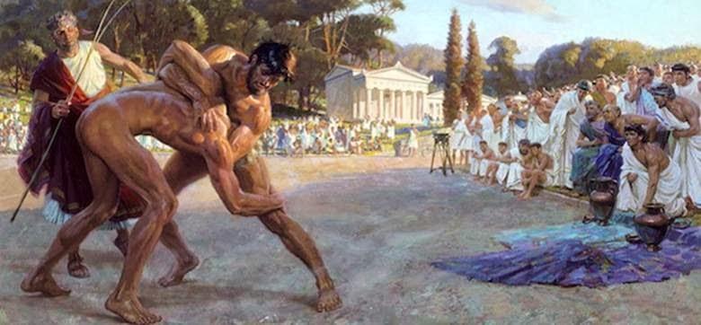Αποτέλεσμα εικόνας για το παιδι στην αρχαια ελλαδα παλαιστρες