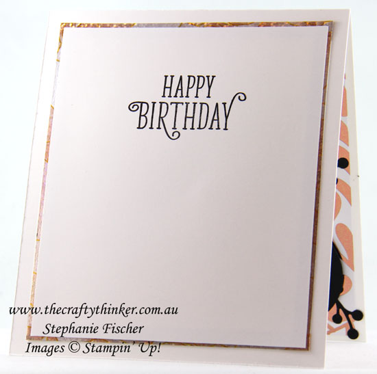 #cardmaking, Year of Cheer, 70th birthday card, #thecraftythinker, Stampin Up Australia Demonstrator, Stephanie Fischer, Sydney NSW