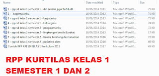 download RPP kurikulum 2013 kelas 1 lengkap