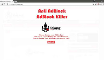 Cara Memasang Anti AdBlock di Blogger dan WordPress