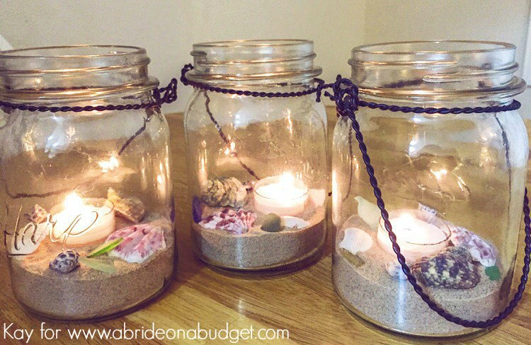 Beach Wedding Mason Jar Centerpieces A Bride On A Budget