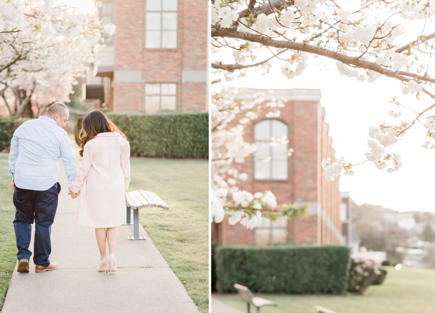 Spring Engagement Session-Cherry Blossom Photography-Something Minted