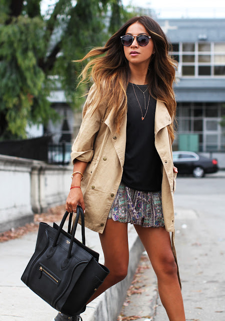 Look Casual com bolsa Celine Luggage!