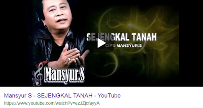 Download Lagu Mansyur S Sejengkal Tanah Mp3 Gratis