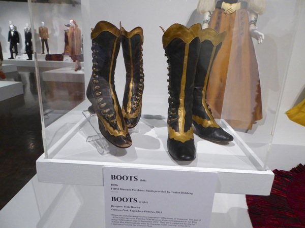 Edith Cushing Crimson Peak boots and their inspiration