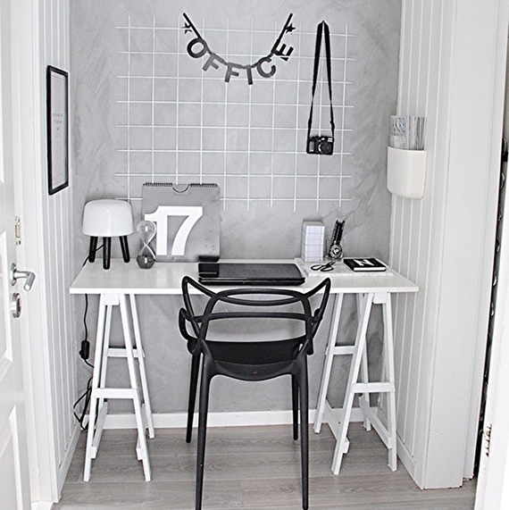 Scandinavian inspired home offices | fregnate on instagram