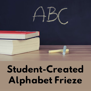 As you set up your classroom, consider NOT using a store bought alphabet frieze. Read how to easily have students create the alphabet display for your classroom!