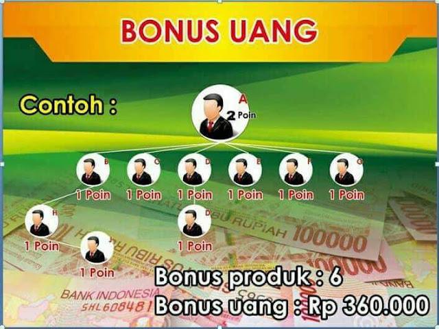 Bonus Uang Reseller Varash dari Perusahaan