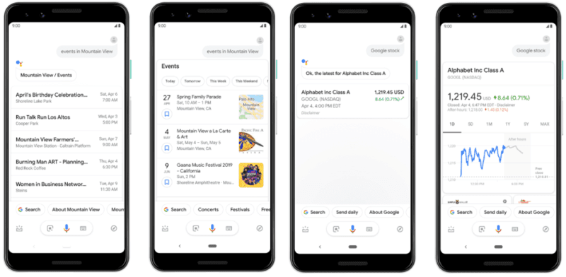 Respuestas ricas que vienen a Google Assistant