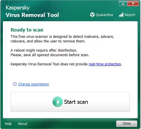 تحميل برنامج إزالة الفيروسات Kaspersky Virus Removal Tool للويندوز