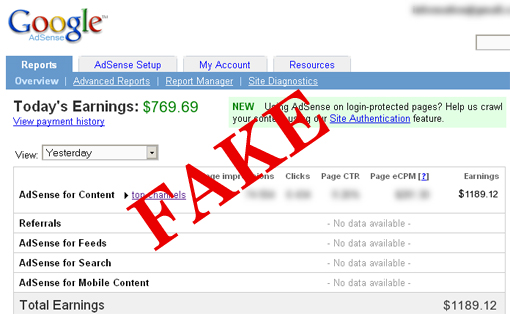 Why Some Bloggers Show Fake Income Reports In Their Blogs