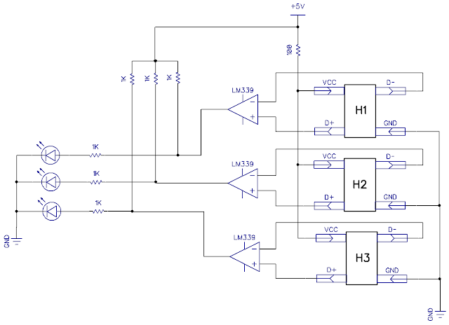 cd rom bldc motor hall effect sensors circuit connection