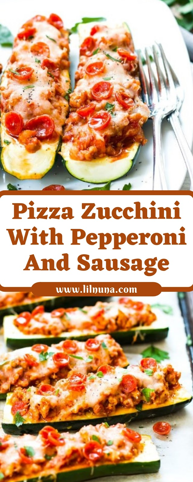 Pizza Zucchini With Pepperoni And Sausage
