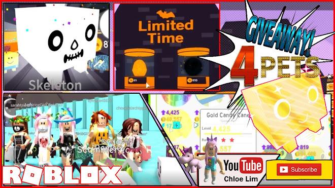 Roblox Pet Simulator Gameplay! Halloween Update! 4 GOLDEN CANDY CANE
