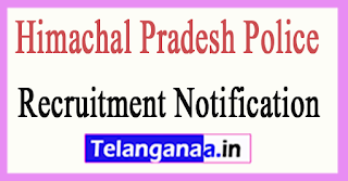 Himachal Pradesh Police Recruitment Notification 2017