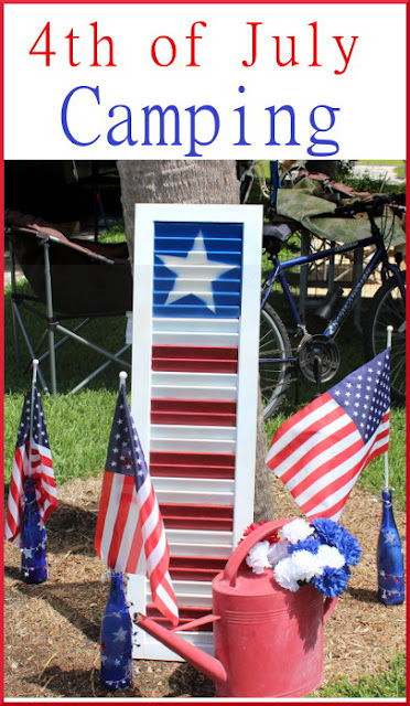 Eclectic Red Barn: 4th of July Camping  with red, white and blue decor