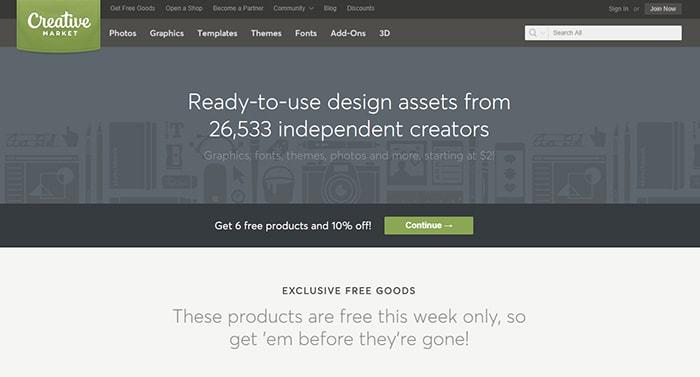 Creative Market - Affiliate Programs For WordPress Templates