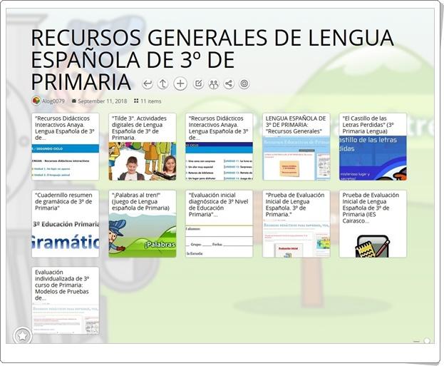 12 recursos generales de LENGUA ESPAÑOLA de 3º de PRIMARIA