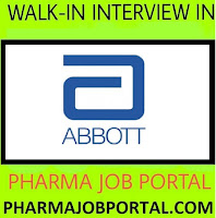 Urgent Vacancy at Abbott Healthcare For B.Sc, B.Pharm