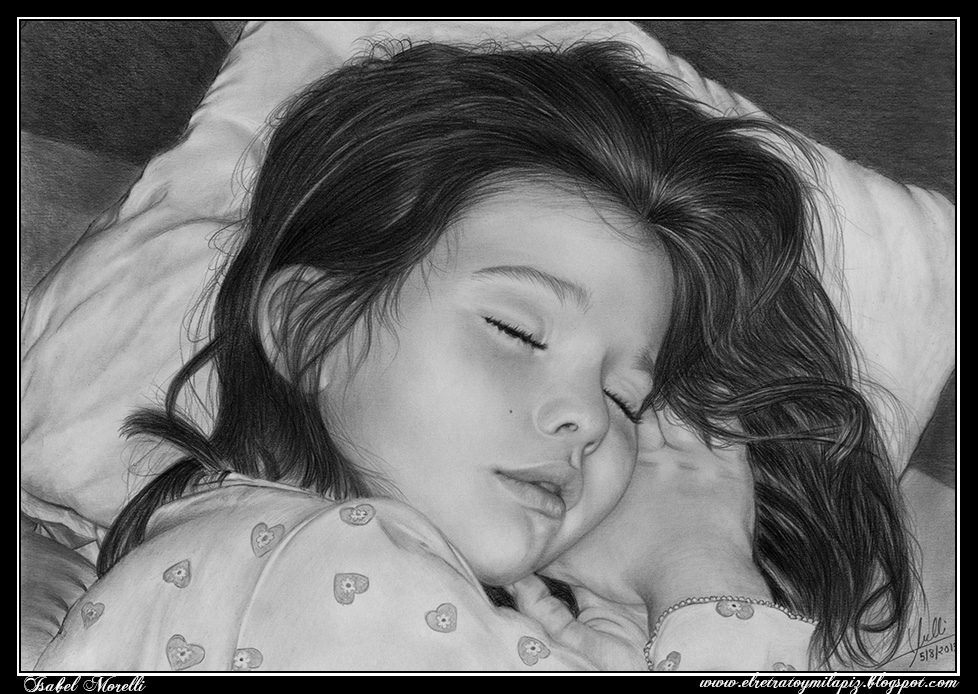18-Sweet-Dreams-Love-Isabel-Morelli-iSaBeL-MR-Pencil-Black-Pastel-and-Charcoal-Portrait-Drawings-www-designstack-co