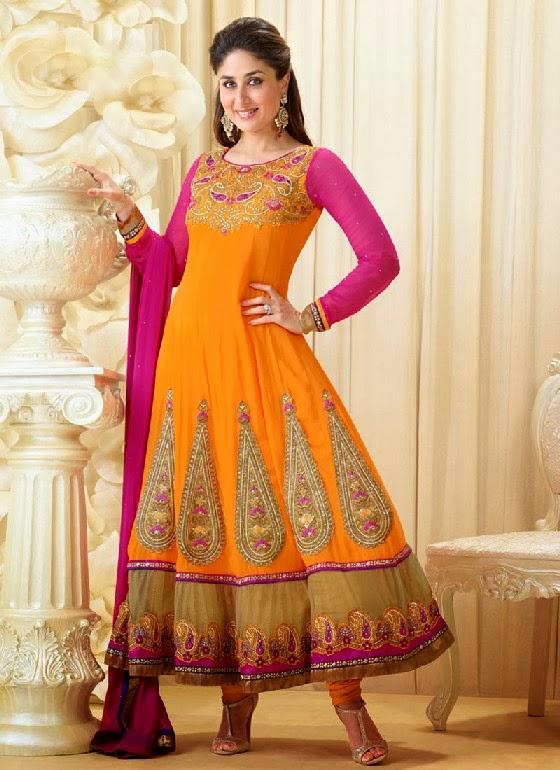 Kareena Kapoor Ankle Length Kalidar Suit 2014 2015