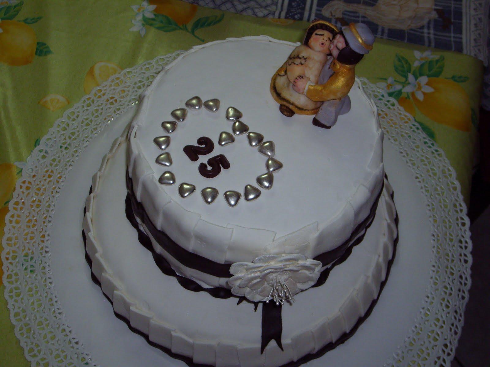 Molto Dolci Pensieri di Zucchero: torta thun per le nozze d'argento NQ99