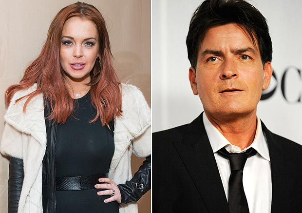 Charlie Sheen And Lindsay Lohan
