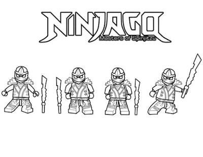 Gambar Mewarnai Ninjago - 1