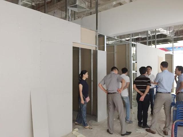 Quá trình thi công căn hộ mẫu dự án Aqua Park Bắc Giang