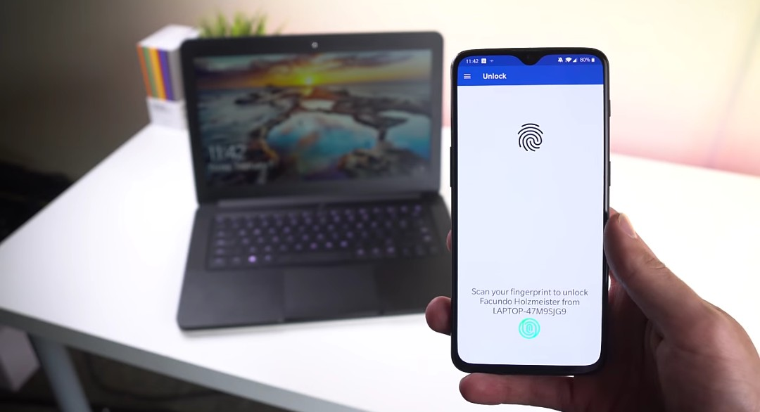 6 steps to unlock your PC using your android phone's fingerprint scanner