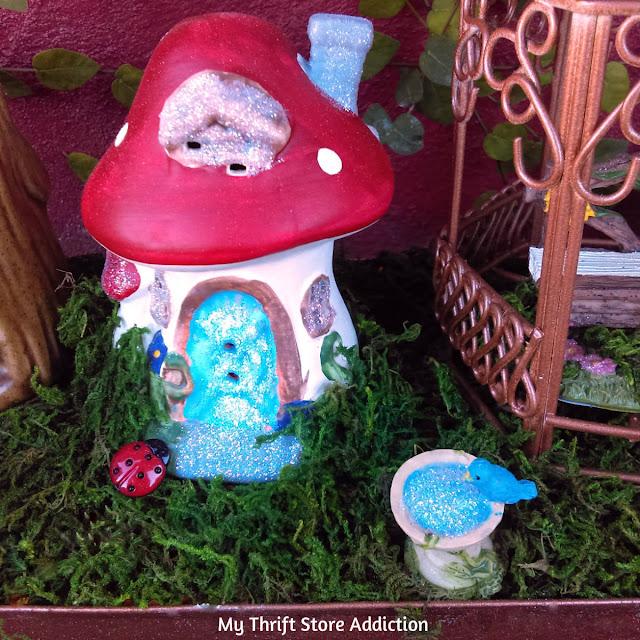 enchanted fairy garden flower bed