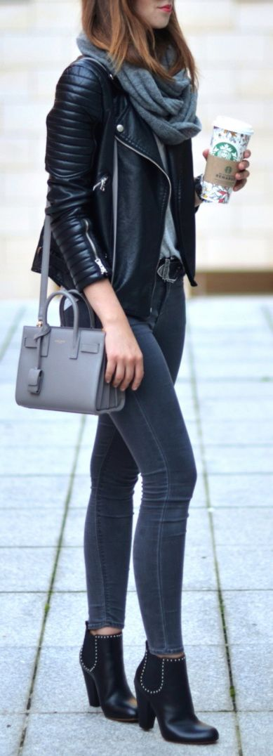 #Jacket #Style Style Tips On How To Wear A Leather Jacket
