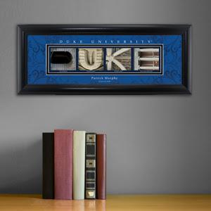 Framed Duke University Architectural Elements Print