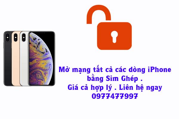 Mở mạng iPhone bằng Sim Ghép