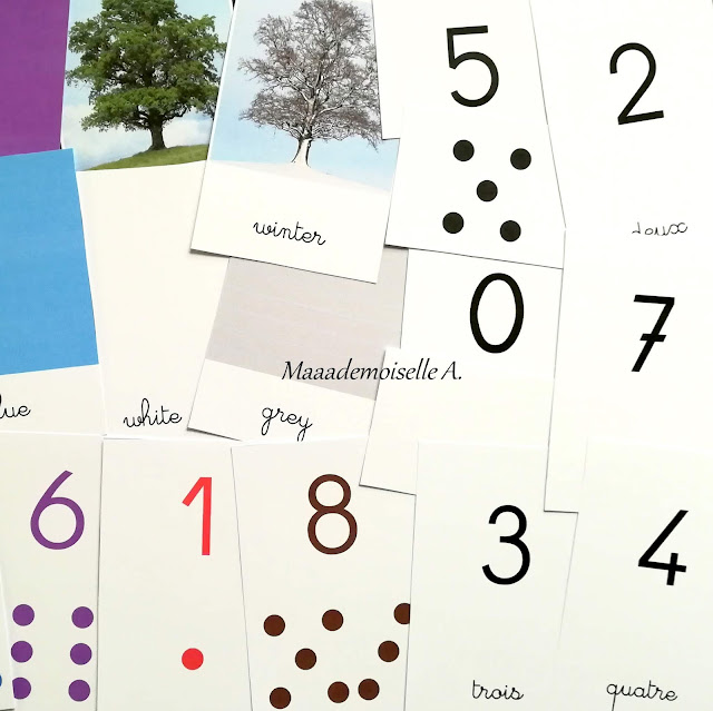 Cartes de nomenclature Maaademoiselle A. Shop - Nombres et constellations - Chiffres - Seasons  Colors