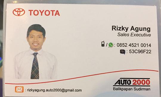 Rekomendasi Sales Toyota Balikpapan Sudirman, Kalimamtan Timur