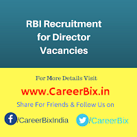RBI Recruitment for Director Vacancies