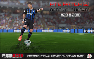 PES 2018 Final Update OF For PTE Patch 5.1 #23-11-2018