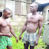 Photo of two men caught vandalizing transformer cable