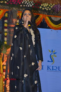 Actress Anushka Anushka Shetty Stills in Black Salwar Kameez at Om Namo Venkatesaya Audio Launch Event  0047.JPG