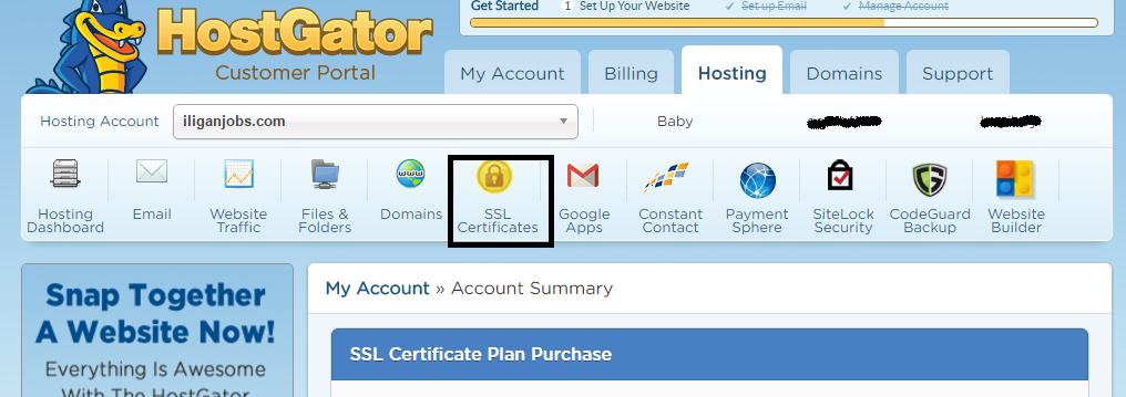 Install An Ssl Certificate In Hostgator Hosted Wordpress Site
