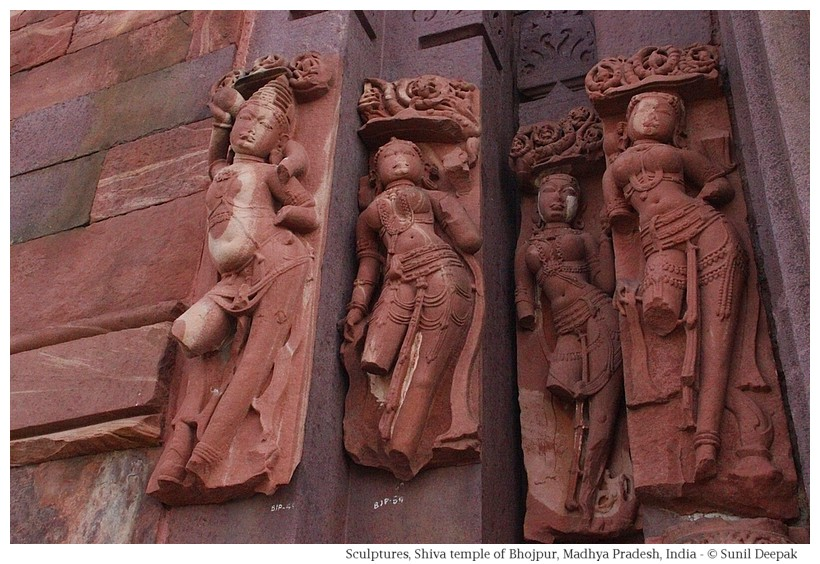 Sculptures, Shiva temple, Bhojpur, Madhya Pradesh, India - Images by Sunil Deepak