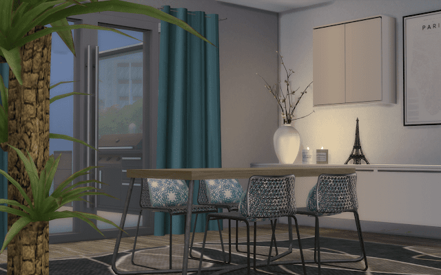 salle à manger design Sims 4