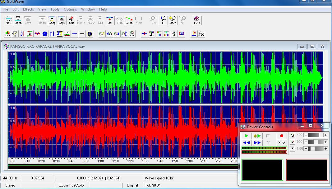 Konvert MP3 To WAV Untuk Sampling PSRS 750 Memakai Program GoldWave