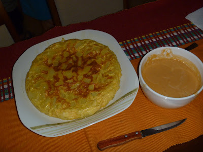 salmorejo y tortilla de patatas