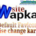 Wapka website me default favicon kaise change kare.